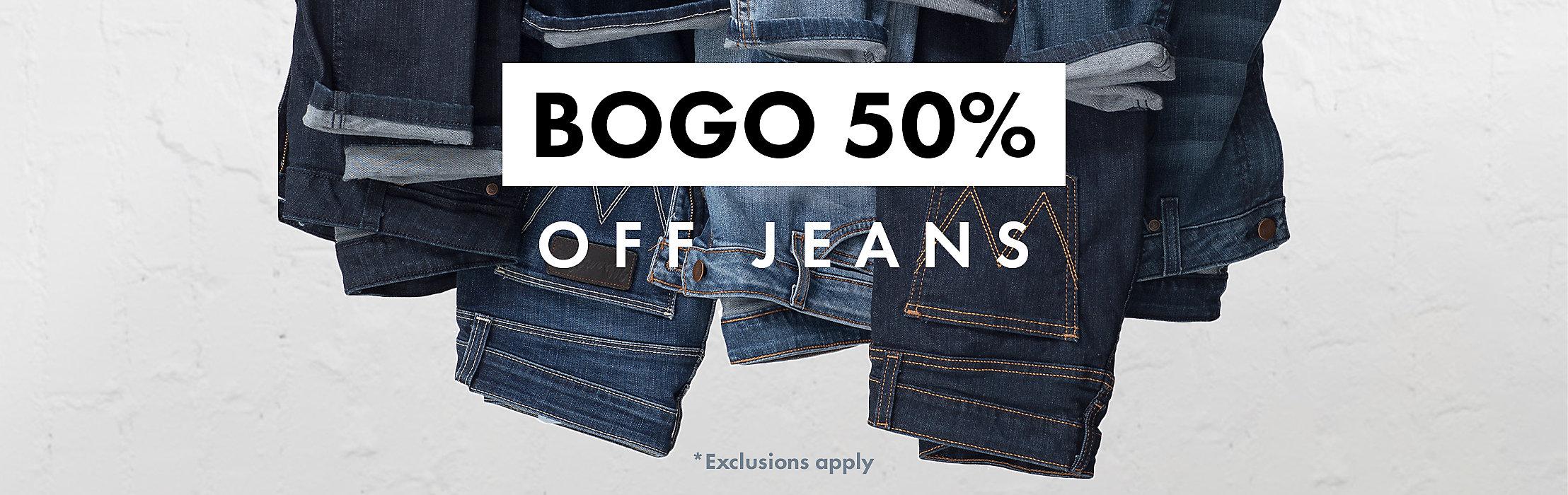 BOOGO 50% JEANS | SHOP NOW