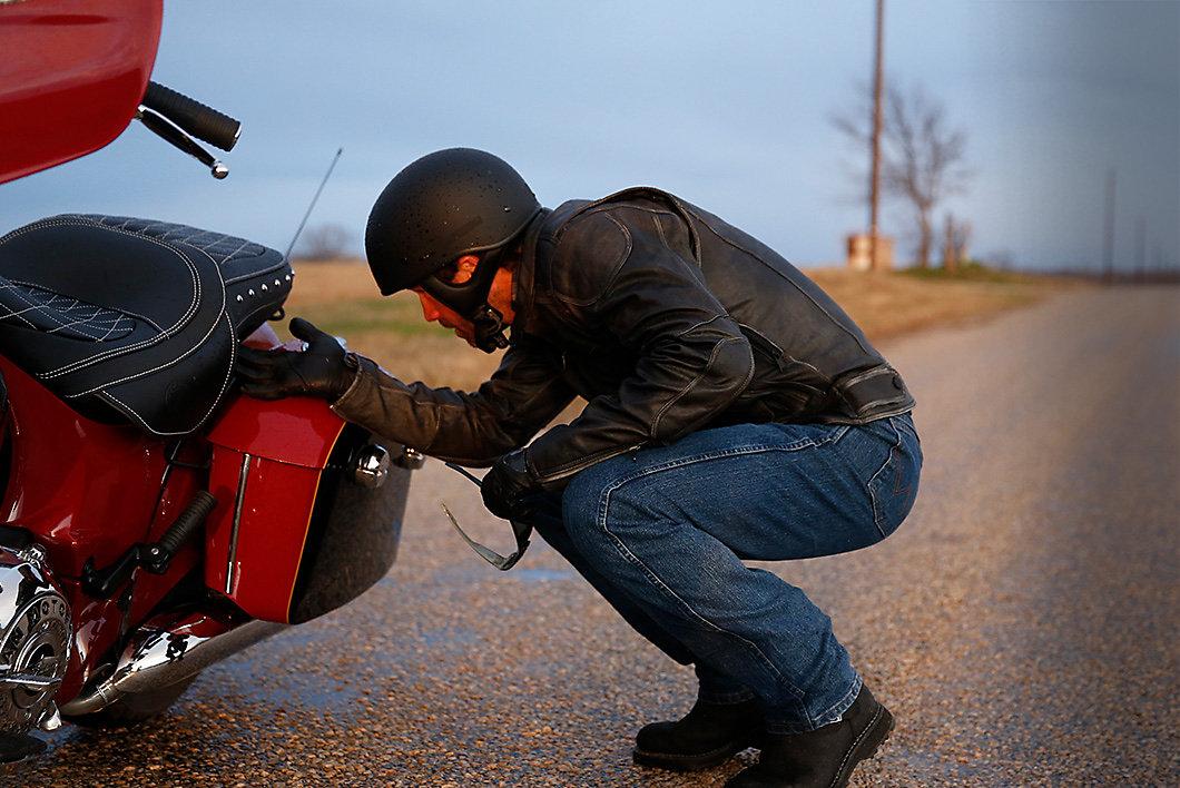 Wrangler Mens Biker Jeans