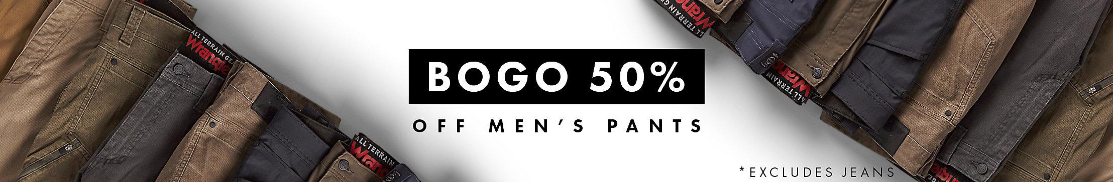 Buy One, Get One 50% Off Men's Pants| Wrangler