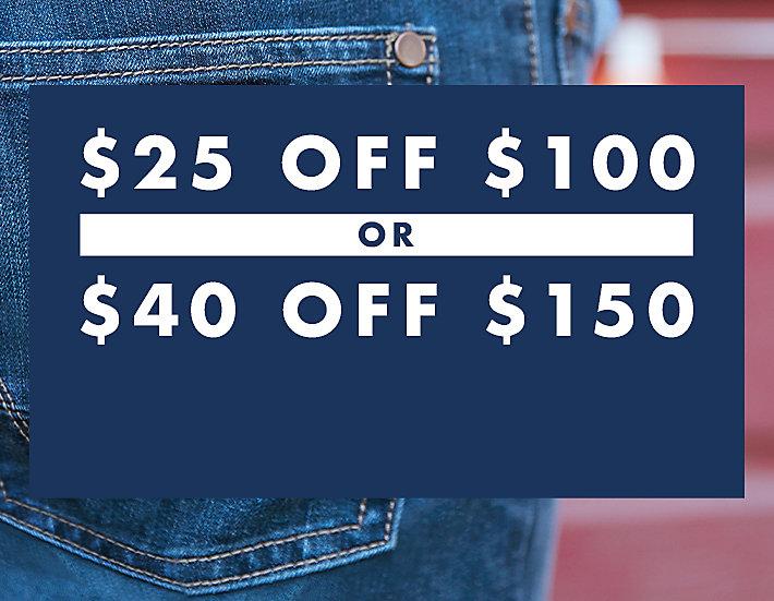 $25 OFF $100 or $40 OFF $150 | Wrangler