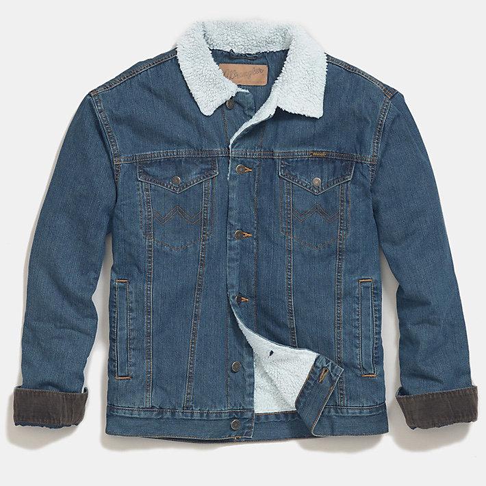 Mens Wrangler Western Blue Black Jacket