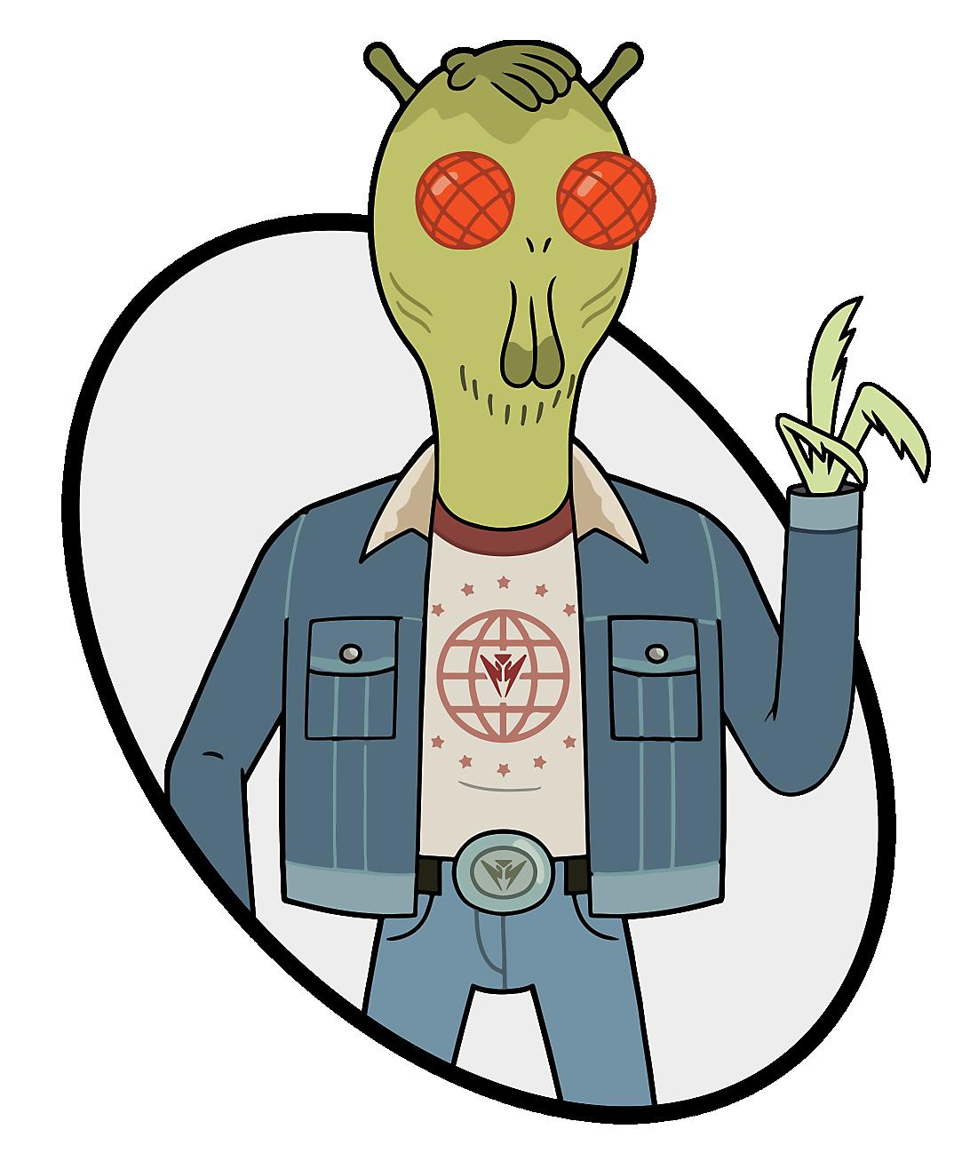 Alien with Jean Jacket